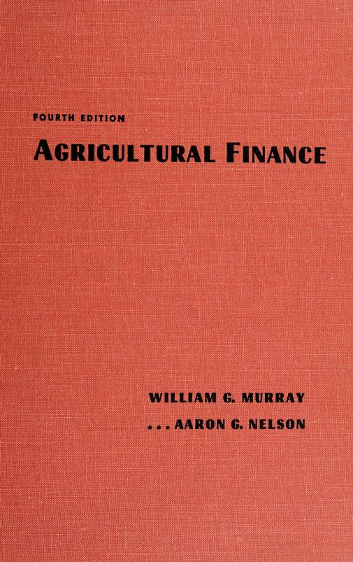 Agricultural finance by William Gordon Murray