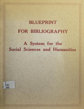 Cover of: Blueprint for bibliography | Eric H. Boehm